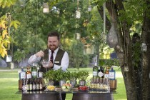 Outdoor Wedding Bar | The Johnstown Estate
