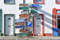 Signposts at Ballyvaughan, County Clare